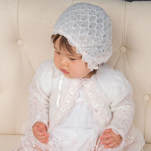 Joli Knit Christening Sweater - Girls Christening Sweater