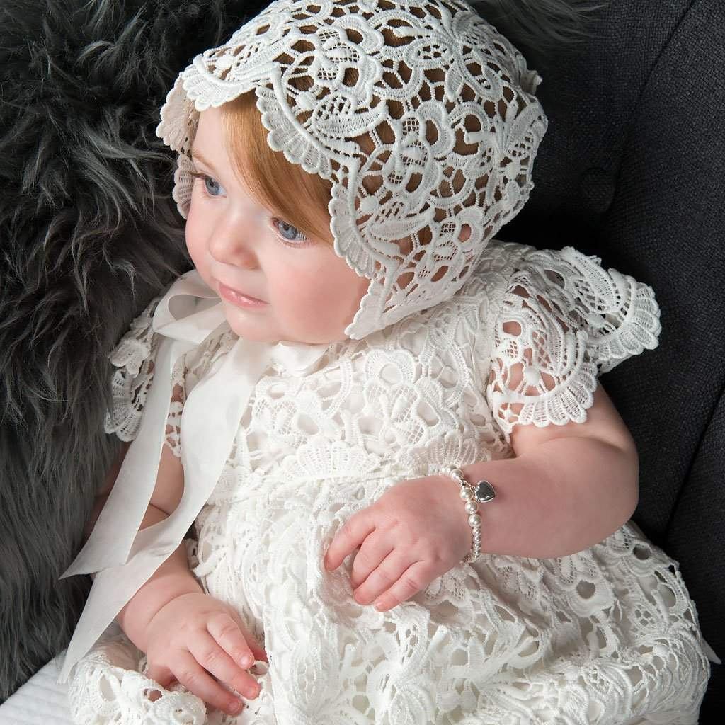 Lola Lace Christening Bubble - Girls Jumpsuit