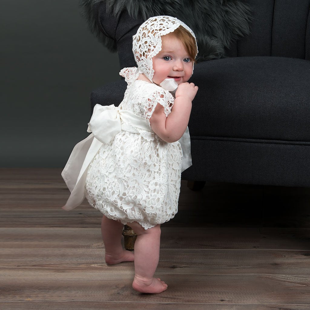 0cf2293a5 Baby Girl Lace Christening Romper - Lola Bubble For girls ...