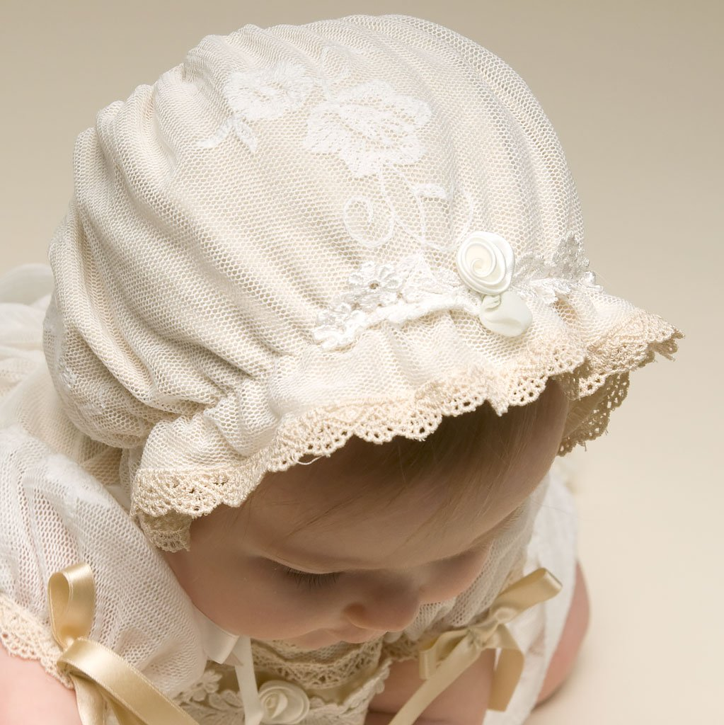 Louisa Christening Bonnet - Girls Bonnet
