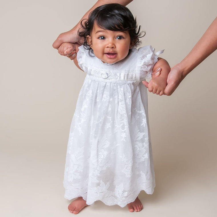 Louisa White Romper Dress