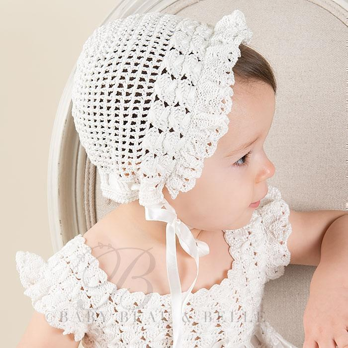 Marita Hand Loomed Bonnet - Girls Bonnet