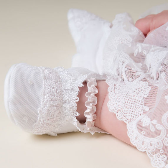 Melissa Christening Booties (9-12 Months Only) - Girls Booties
