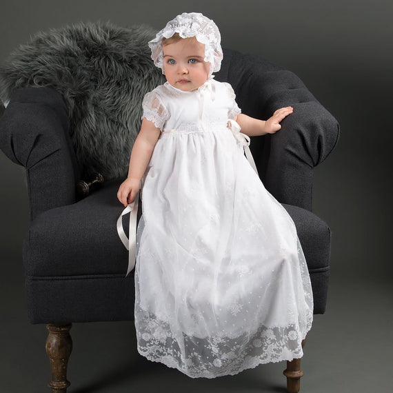 Melissa Christening Gown - Girls Christening Gown