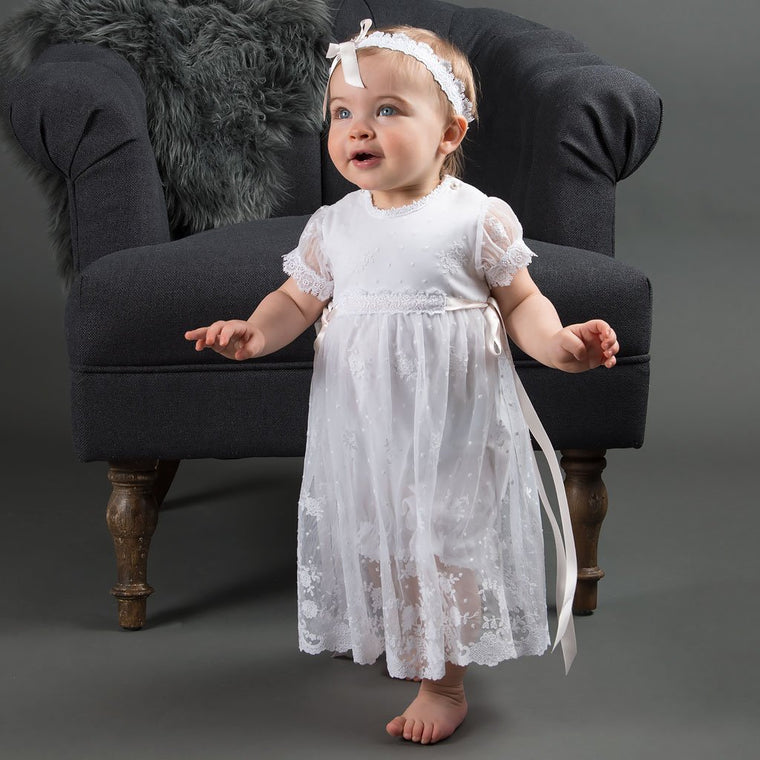 Melissa Christening Romper Dress (3-6 Months only)