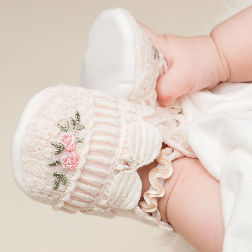 Natalie After Christening Booties - Girls Booties