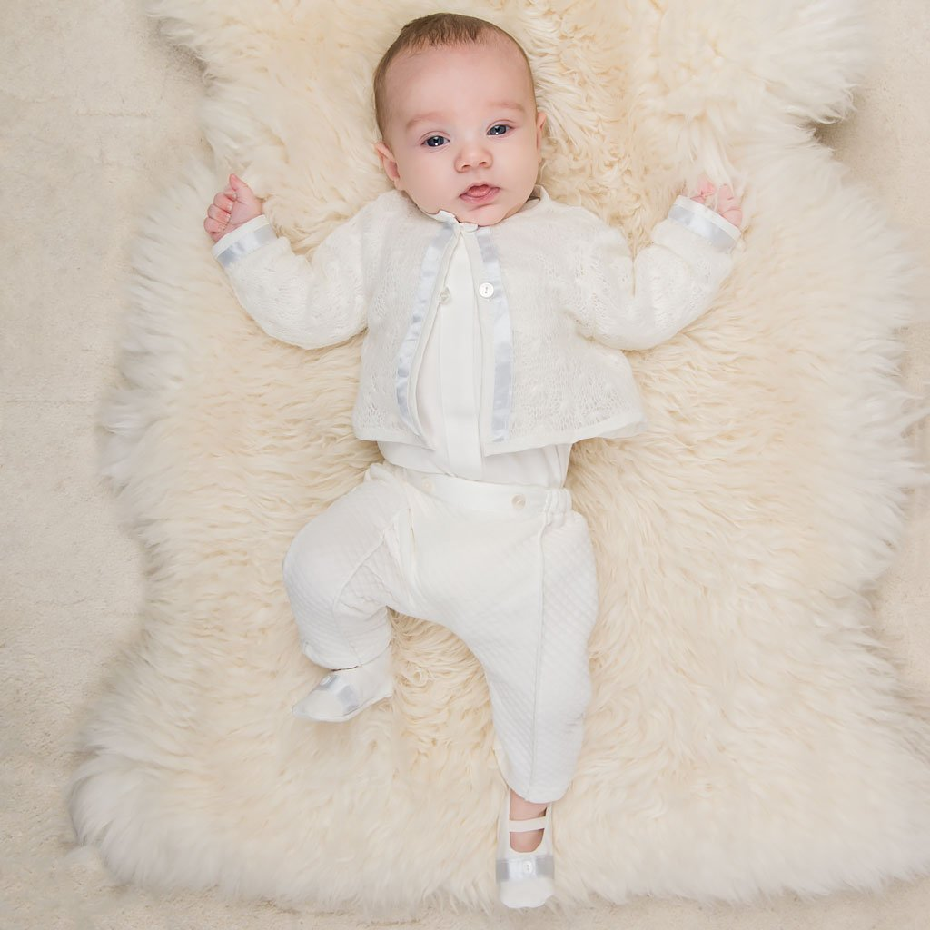 Owen 3-Piece Suit - Boys Christening Suit