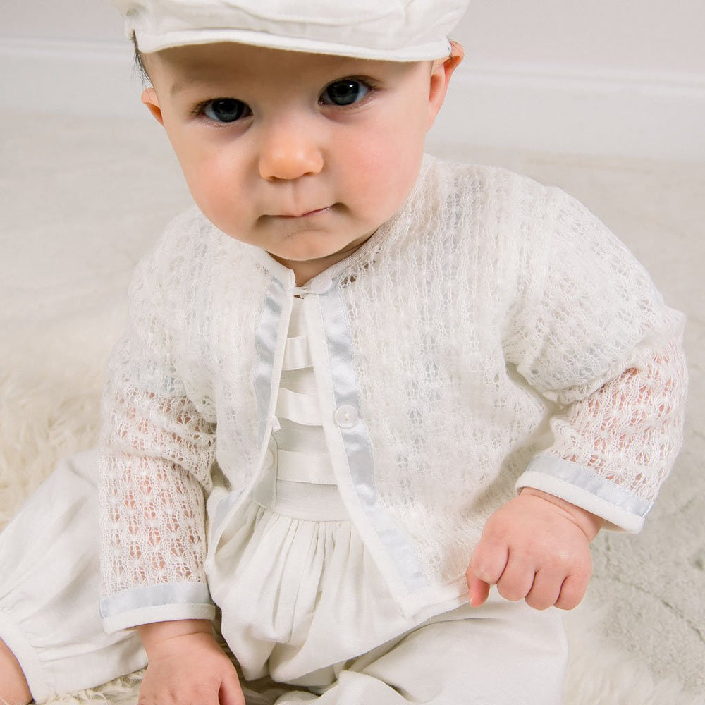 Owen Knit Christening Sweater