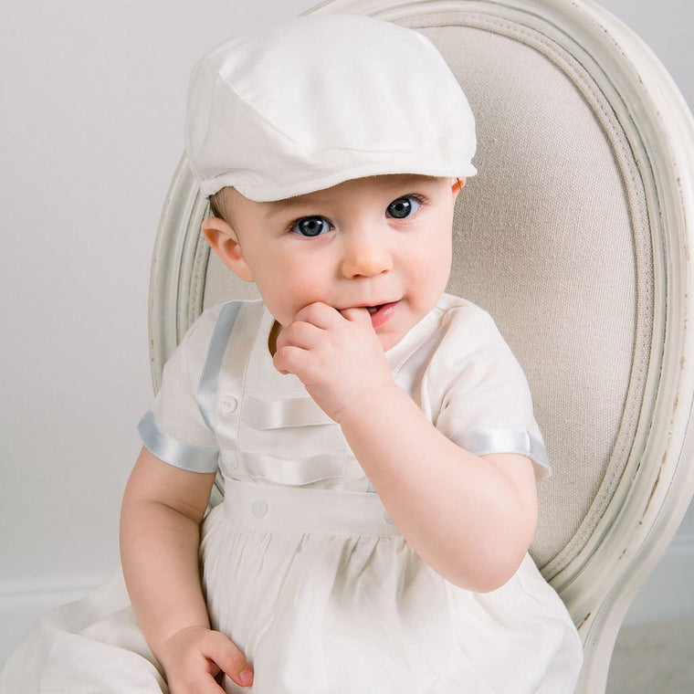 d152fb541a9c The Owen Convertible Christening Jumpsuit   Baby Boys Baptism ...