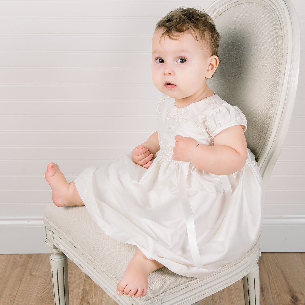 Penelope Christening Dress & Bloomers - Girls Christening Dress