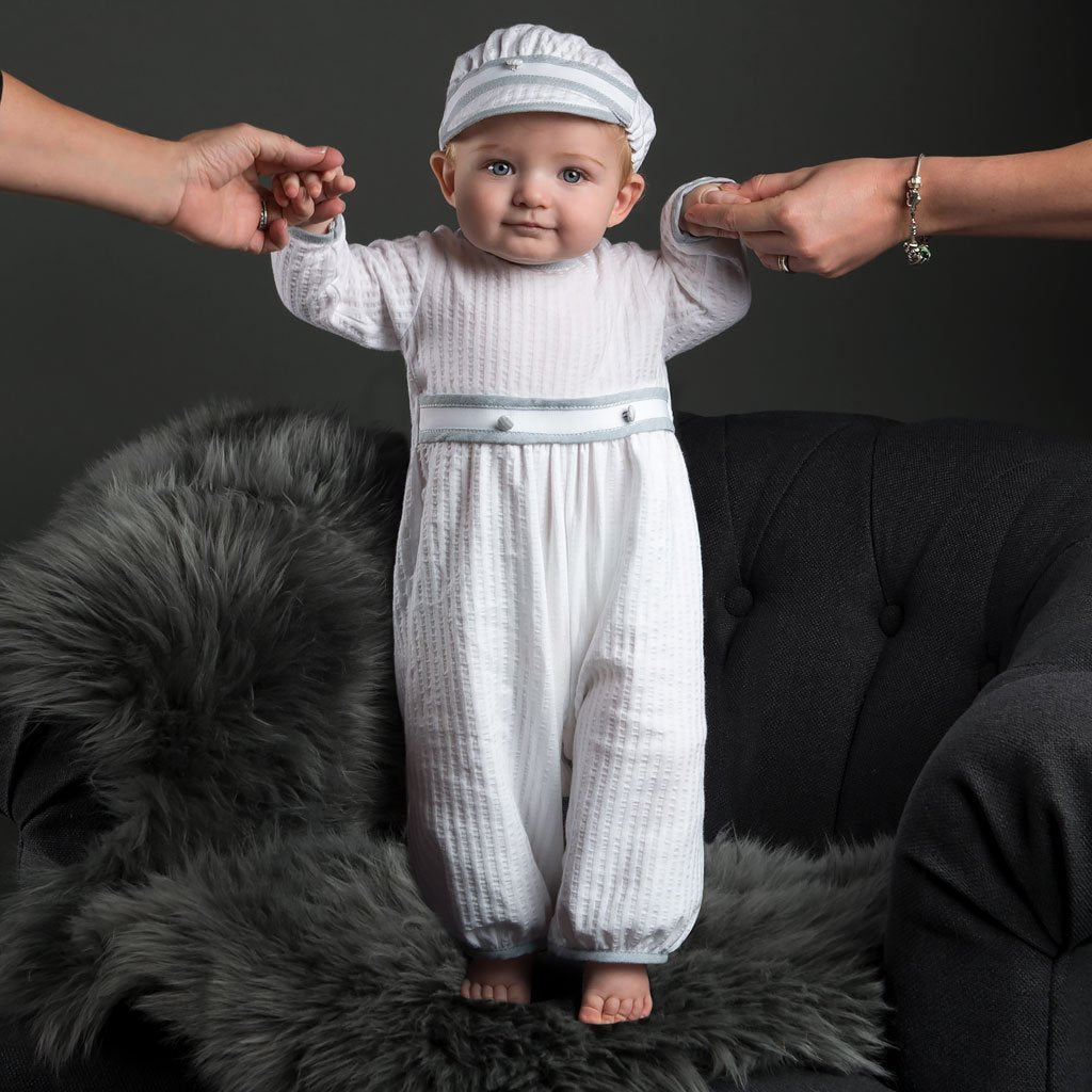 Baby Boy Jumpsuit - Peter Christening   Baptism Collection ... 6f61e3f709a9