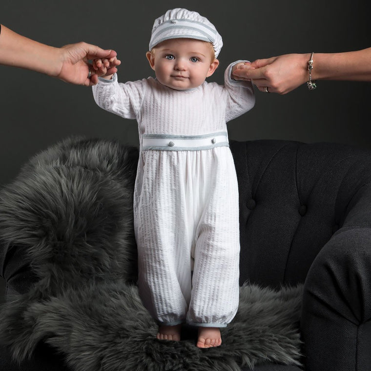 Peter Cotton Christening Jumpsuit