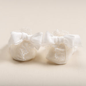 Poppy Christening Booties -
