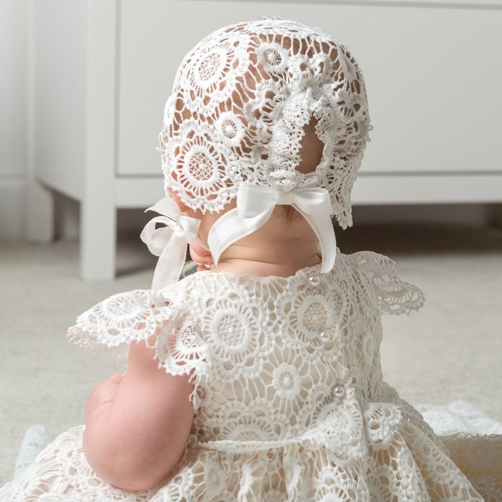 Poppy Christening Gown & Bonnet -