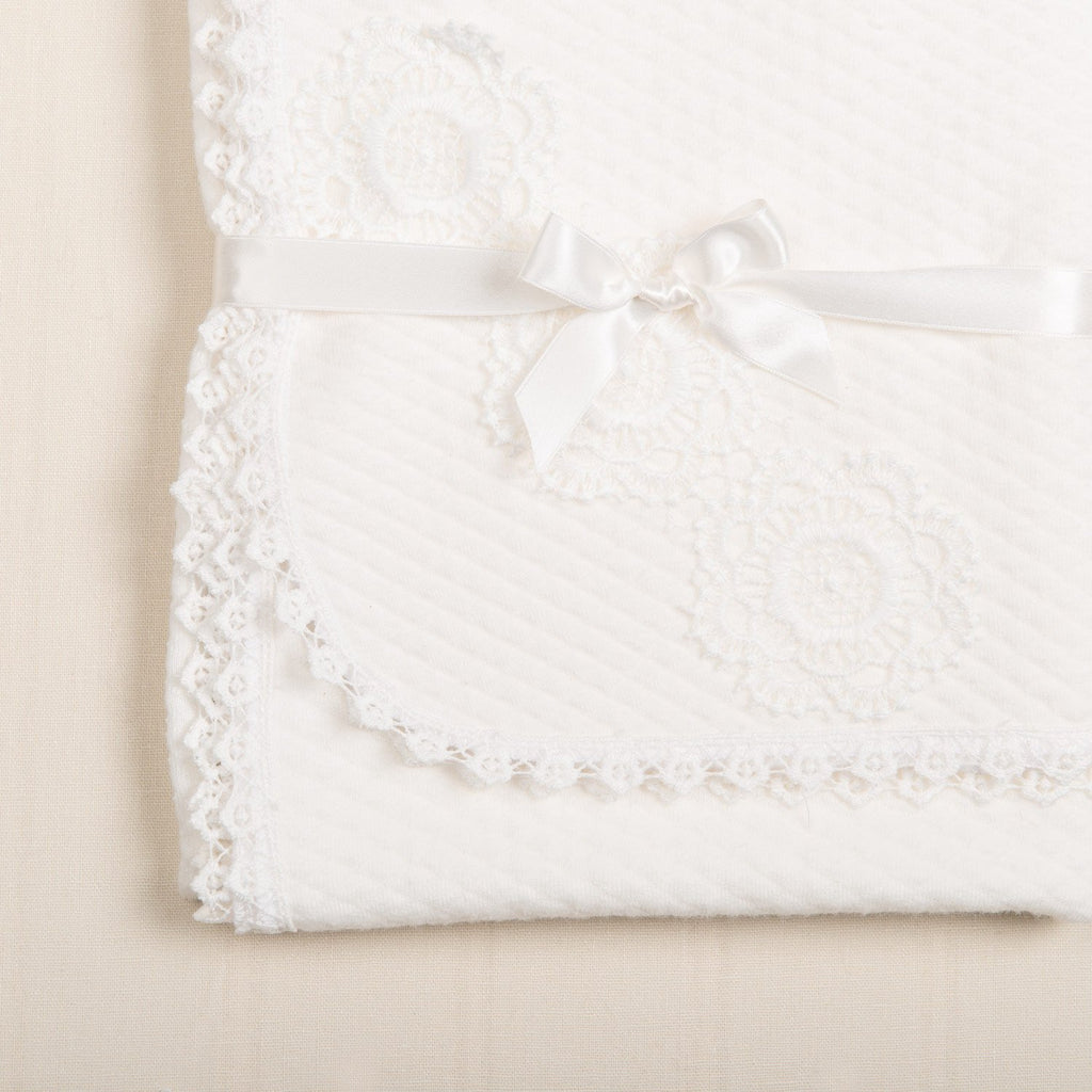Poppy Quilted Christening Blanket -
