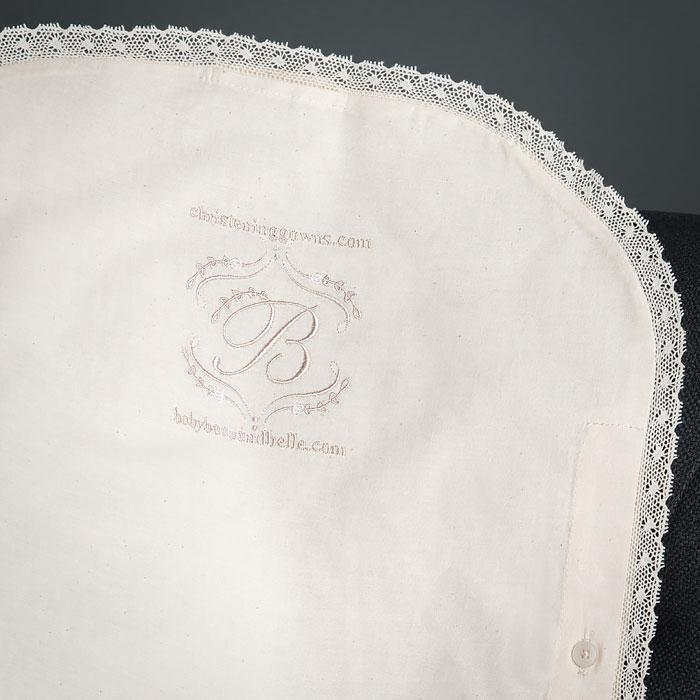 Short Muslin Keepsake Garment Bag & Hanger - Garment Bag