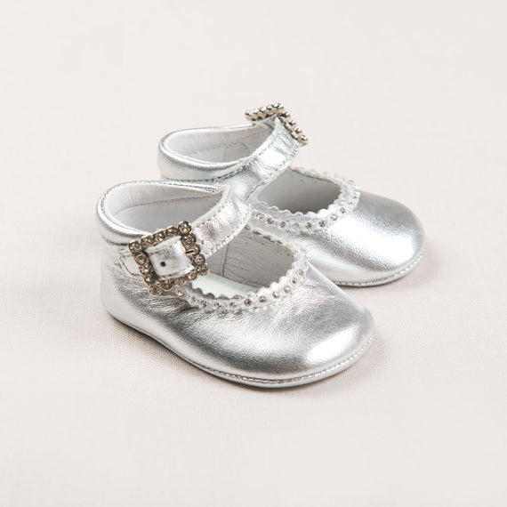 Silver Mary Janes - Girls Shoes