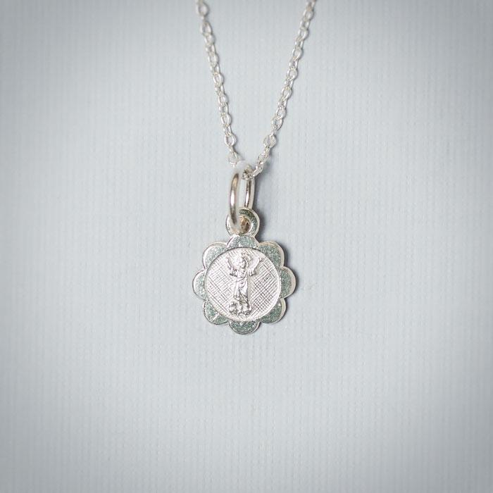 Sterling Silver Open Arms Charm Necklace - Christening Jewelry