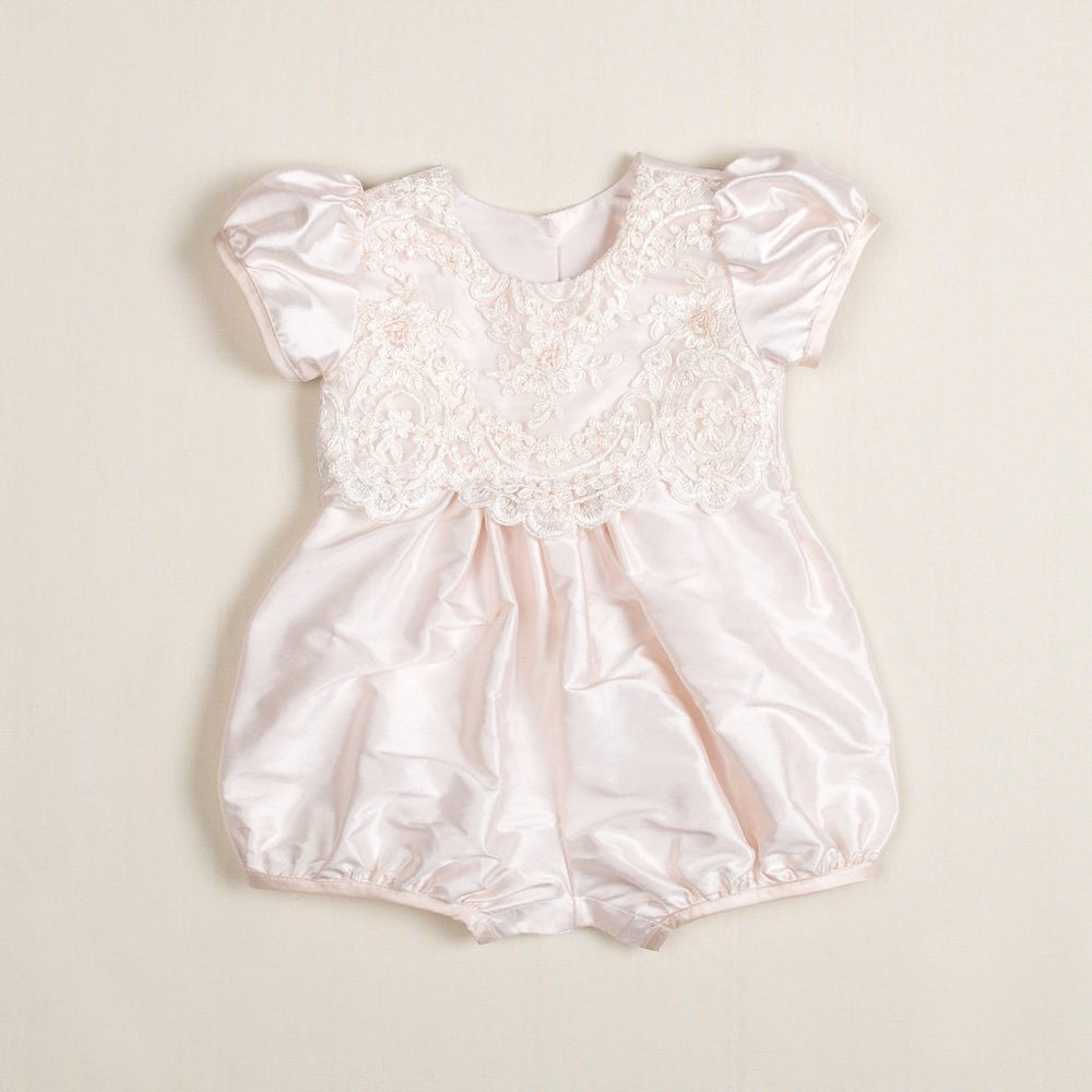 Tessa Silk Christening Bubble Romper