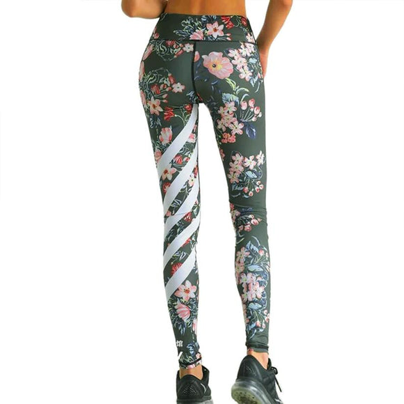 Eccentric Mix Striped Floral Legging