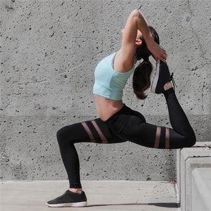 Balanced Double Stripe Mesh Legging