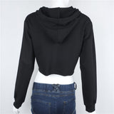 The Autumn Collection Street Style Cropped Hooded Sweatshirt