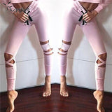Fearless Pink Banded Cutout Legging