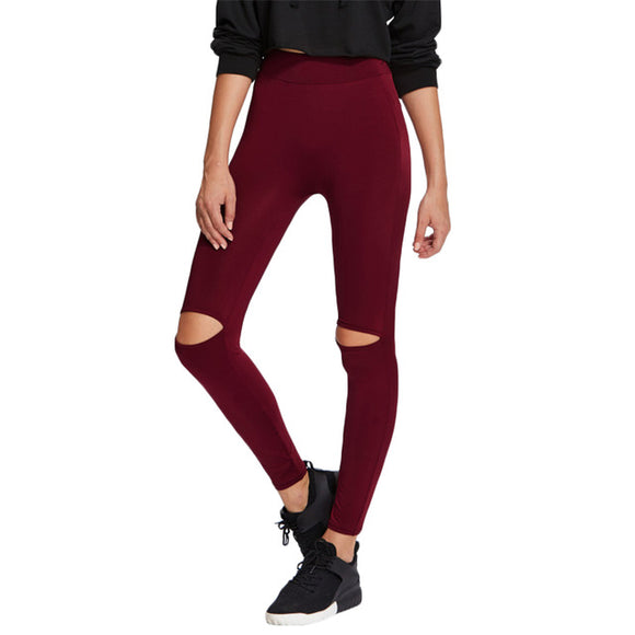 The Winter Collection Burgundy Cut Out Legging