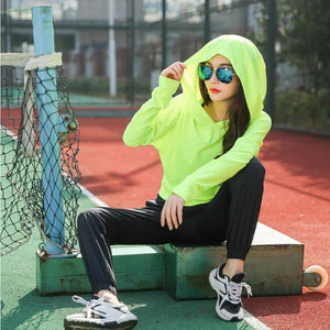 The Winter Collection Polar  Cropped Hooded Sweatshirt