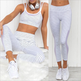 The Bare Goddess Collection Striped Legging