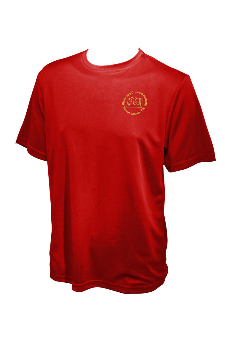Missionary Christian Academy | Gym Shirt Red(2477)