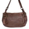 Modapelle  Woven Shoulder Tote-Chocolate