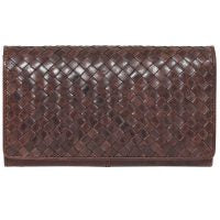 Modapelle Compact Winter Weave Wallet - Brown