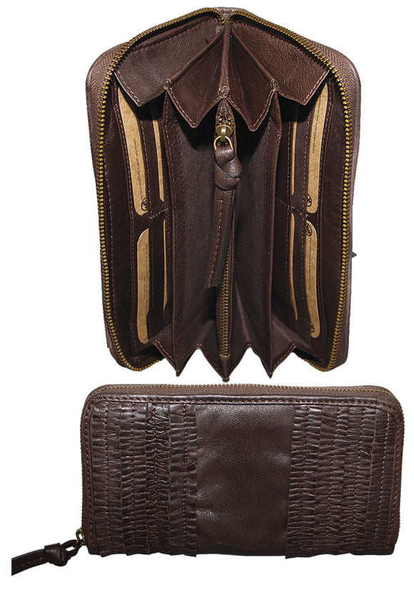 Gianotti leather  wallet- Dark brown
