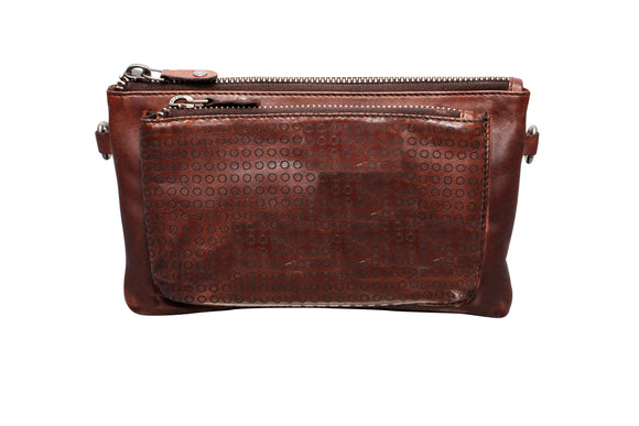 Futura washed leather purse - Brown