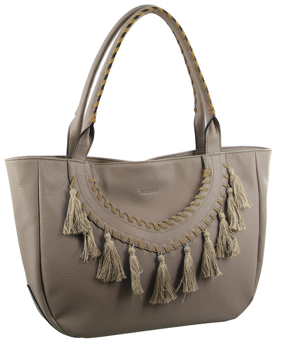 Milleni medium size handbag - taupe