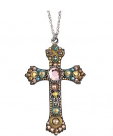 Ayala Bar Cross Necklace-Gold