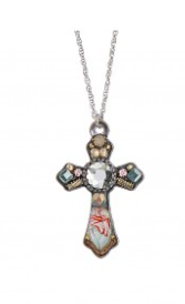 Ayala Bar Cross Necklace-Silver