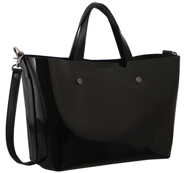 Morrissey Patent Leather Tote-Black