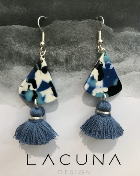 Lacuna Blue Tassel Earrings