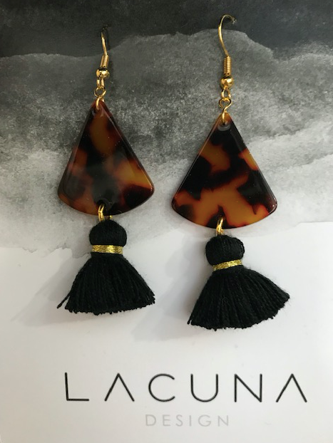 Lacuna Leopard Tassel Earrings