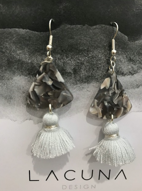 Lacuna Grey Tassel Earrings