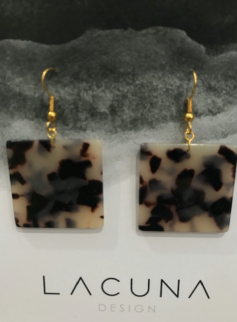 Lacuna Leopard Cellulose Earrings
