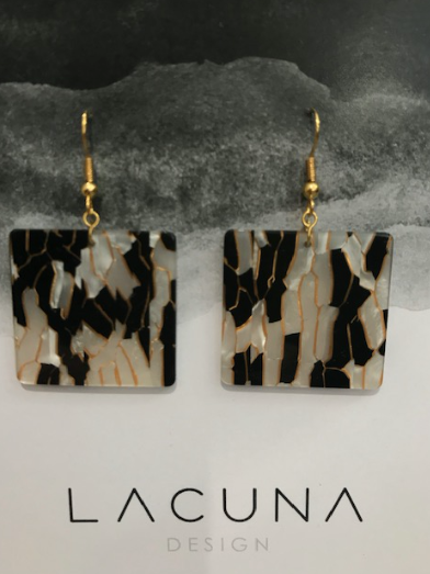 Lacuna Leopard & Gold Cellulose Earrings