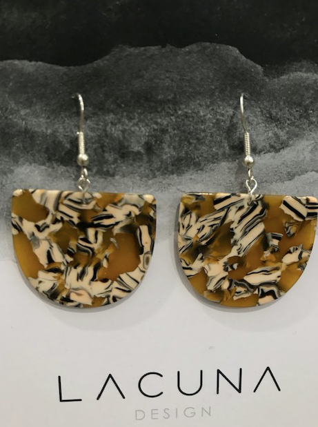 Lacuna Mustard Cellulose Earrings