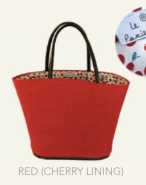 Le Panier Noosa Basket-Red/Cherry Lining