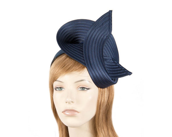 Max Alexander twisted fascinator - Navy
