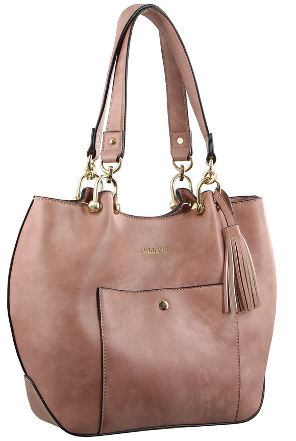 Milleni soft handbag - Blush