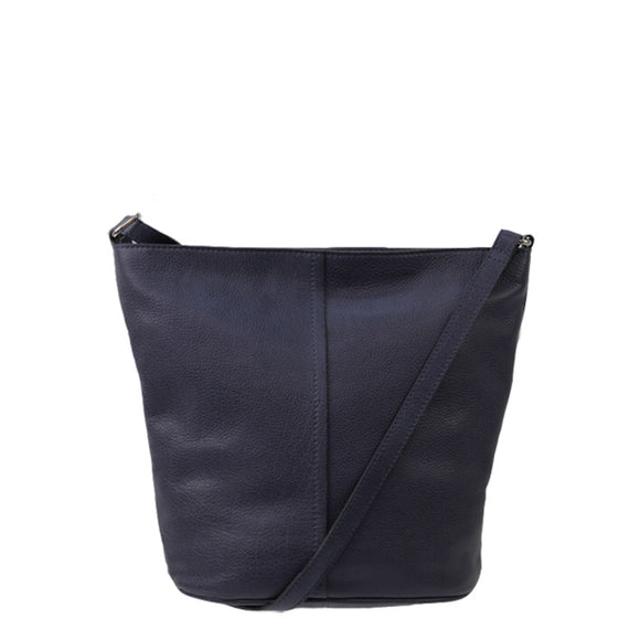 Jendi leather crossbody handbag - Navy