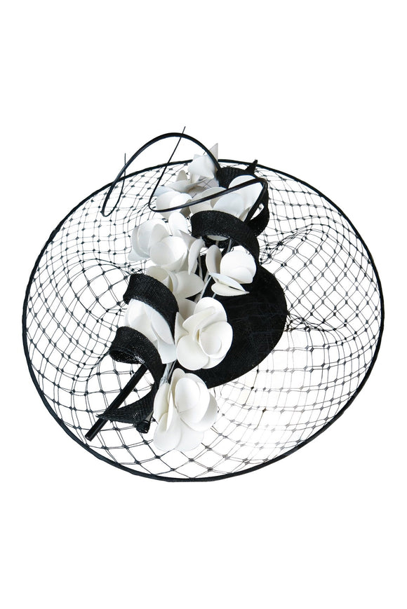 Morgan & Taylor black and white fascinator - Angel